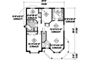 Victorian Style House Plan - 3 Beds 1 Baths 1179 Sq/Ft Plan #25-4771