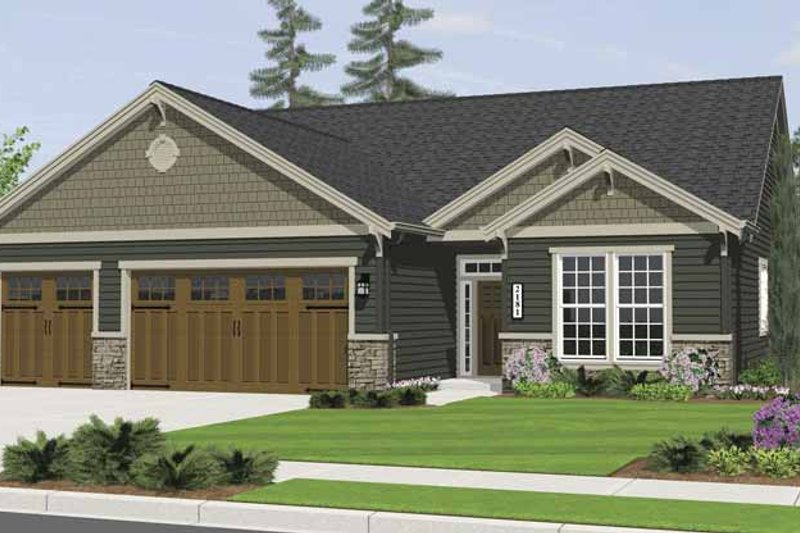 Craftsman Exterior - Front Elevation Plan #943-3