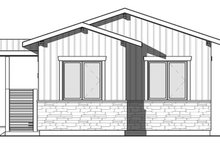 Contemporary Exterior - Rear Elevation Plan #23-2603