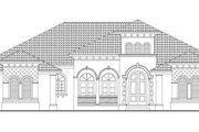 Mediterranean Style House Plan - 4 Beds 4.5 Baths 5224 Sq/Ft Plan #930-418 Exterior - Front Elevation