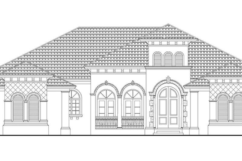 Mediterranean Exterior - Front Elevation Plan #930-418 - Houseplans.com