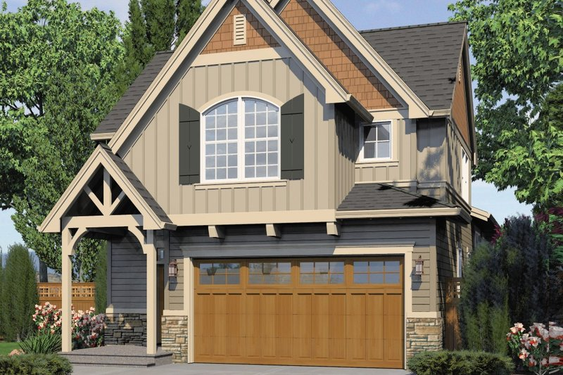 Craftsman Exterior - Front Elevation Plan #48-552