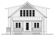 Beach Style House Plan - 3 Beds 3 Baths 2484 Sq/Ft Plan #443-3 Exterior - Rear Elevation
