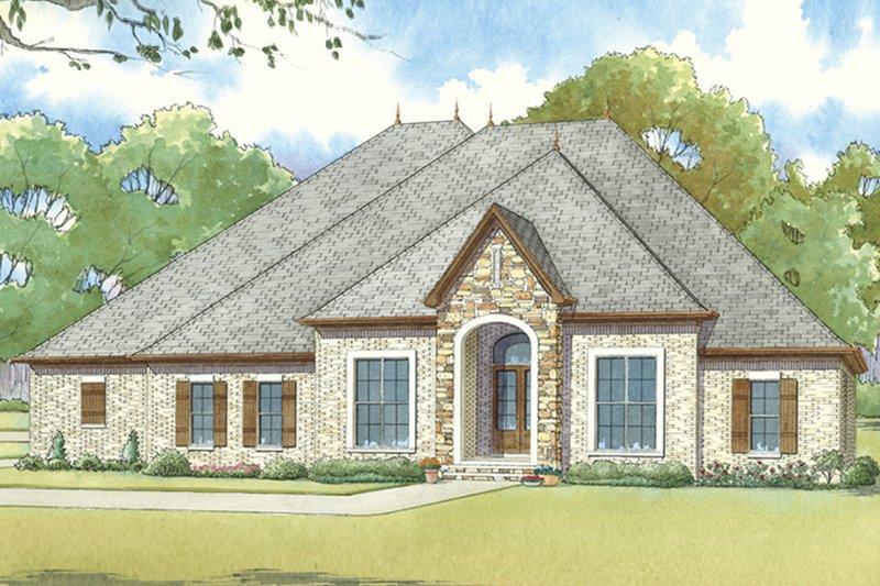 Architectural House Design - European Exterior - Front Elevation Plan #17-3412