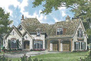 European Exterior - Front Elevation Plan #453-544