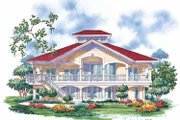 Country Style House Plan - 3 Beds 2.5 Baths 2385 Sq/Ft Plan #930-67 Exterior - Rear Elevation