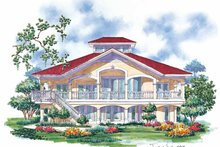 Country Exterior - Rear Elevation Plan #930-67