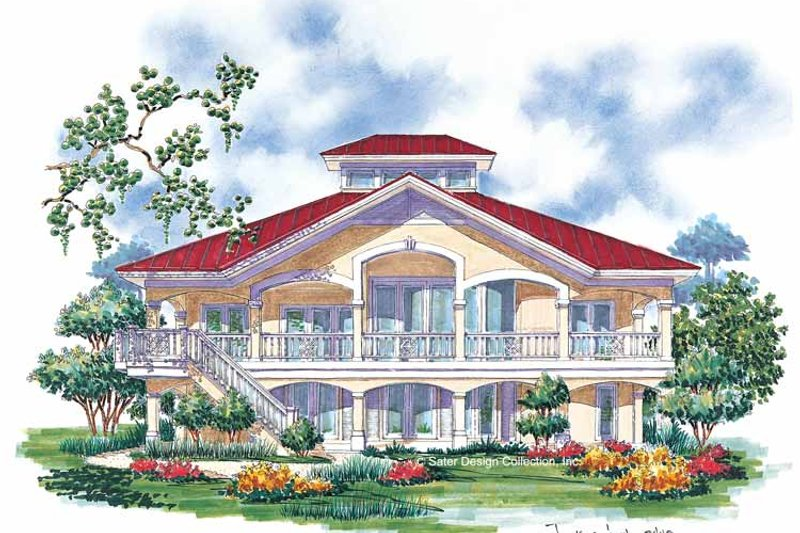 Country Exterior - Rear Elevation Plan #930-67 - Houseplans.com