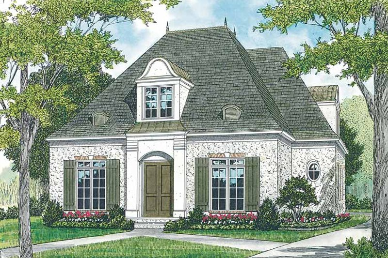Country Exterior - Front Elevation Plan #453-392