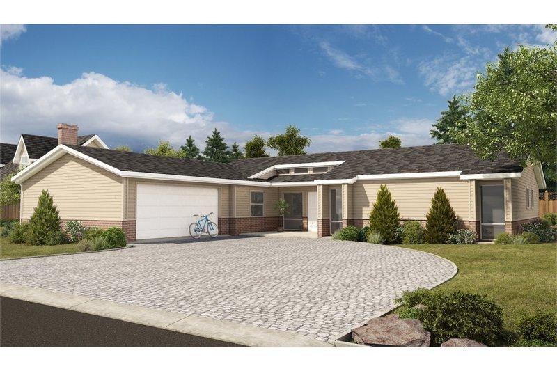 Architectural House Design - Modern Exterior - Front Elevation Plan #126-189