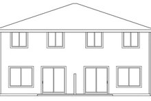 House Design - Traditional Exterior - Rear Elevation Plan #124-571