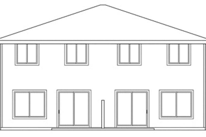 Traditional Exterior - Rear Elevation Plan #124-571 - Houseplans.com
