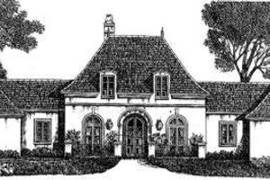 Dream House Plan - European Exterior - Front Elevation Plan #301-108