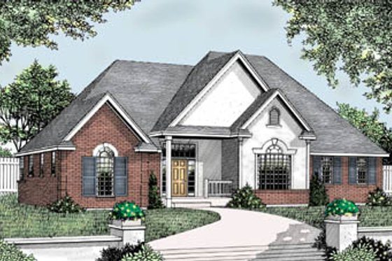Traditional Exterior - Front Elevation Plan #101-104