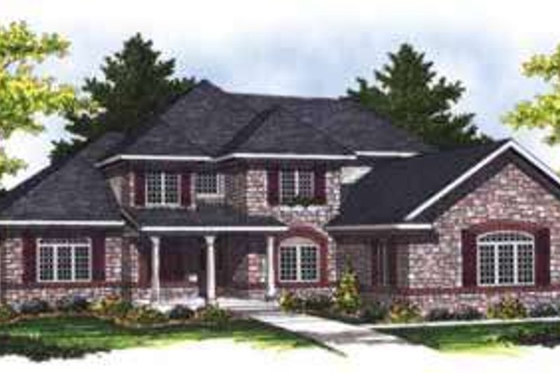 Home Plan - Traditional Exterior - Front Elevation Plan #70-846