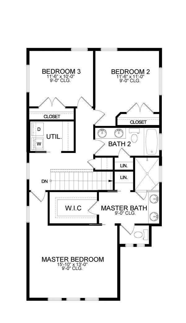 European Floor Plan - Upper Floor Plan #1058-187
