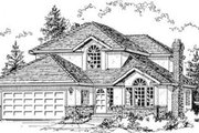 Traditional Style House Plan - 3 Beds 2.5 Baths 2152 Sq/Ft Plan #18-8950 Exterior - Front Elevation