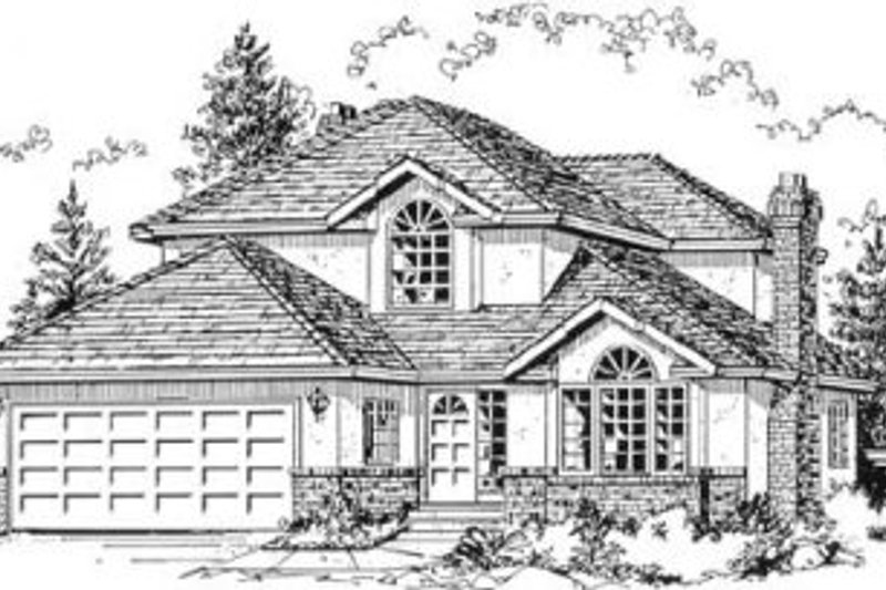 Traditional Style House Plan - 3 Beds 2.5 Baths 2152 Sq/Ft Plan #18-8950