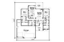 Craftsman Floor Plan - Main Floor Plan Plan #20-2179