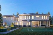 Mediterranean Style House Plan - 10 Beds 9.5 Baths 9358 Sq/Ft Plan #1066-124 Exterior - Rear Elevation