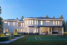 House Plan Design - Mediterranean Exterior - Rear Elevation Plan #1066-124