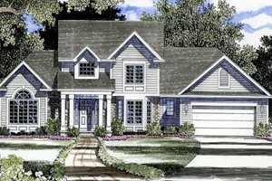 Country Exterior - Front Elevation Plan #316-103