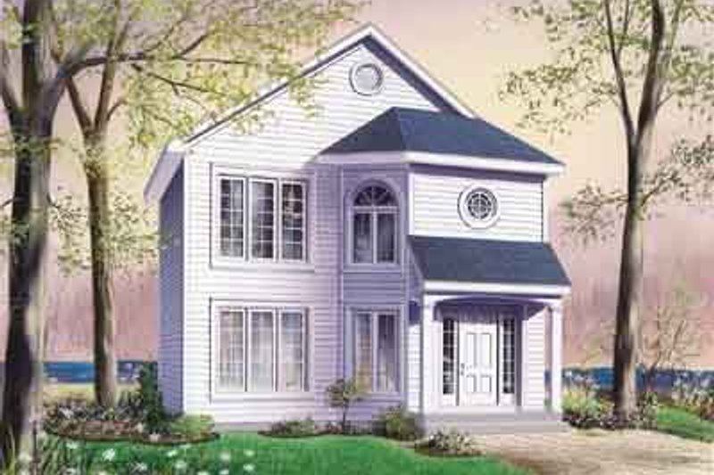 Traditional Exterior - Front Elevation Plan #23-522 - Houseplans.com