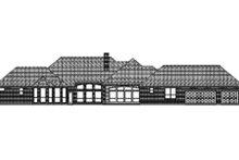 Dream House Plan - Traditional Exterior - Rear Elevation Plan #84-407