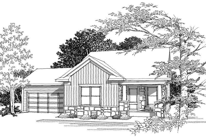 Ranch Photo Plan #70-1018 - Houseplans.com