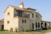 European Style House Plan - 4 Beds 5.5 Baths 6102 Sq/Ft Plan #458-8 Exterior - Rear Elevation