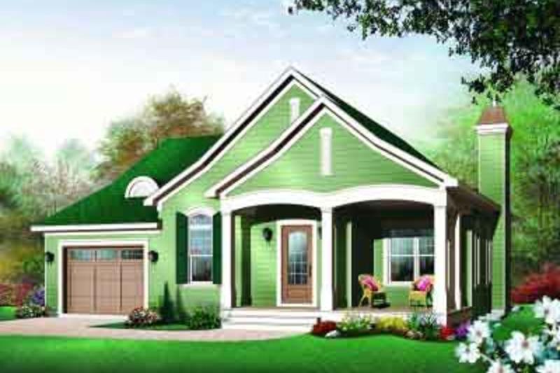 Cottage Exterior - Front Elevation Plan #23-562 - Houseplans.com