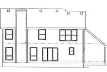 House Plan Design - Traditional Exterior - Rear Elevation Plan #20-747