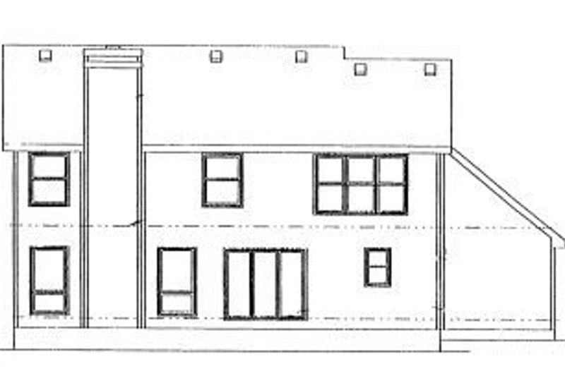 Traditional Exterior - Rear Elevation Plan #20-747 - Houseplans.com