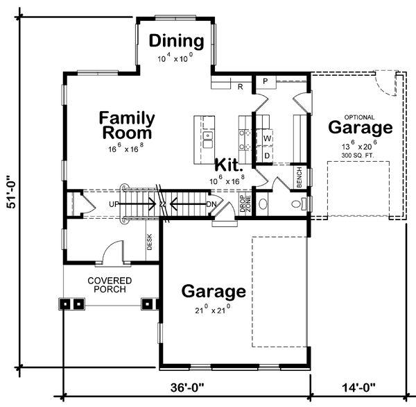 Home Plan - Traditional Floor Plan - Main Floor Plan #20-2346
