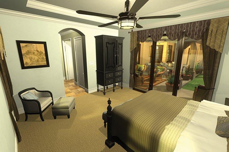 Mediterranean Interior - Master Bedroom Plan #930-434 - Houseplans.com