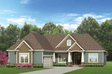 Craftsman Exterior - Front Elevation Plan #1010-51