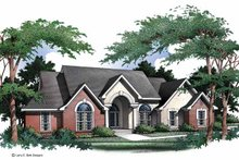 Ranch Exterior - Front Elevation Plan #952-1