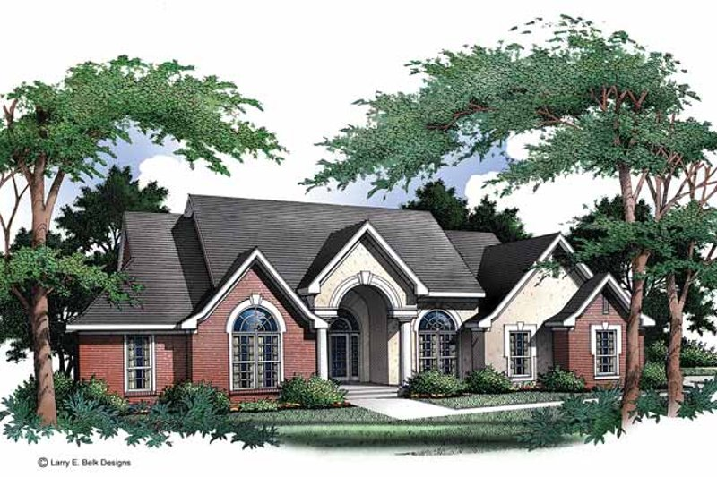 Ranch Exterior - Front Elevation Plan #952-1 - Houseplans.com