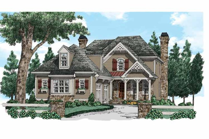 Country Exterior - Front Elevation Plan #927-937 - Houseplans.com