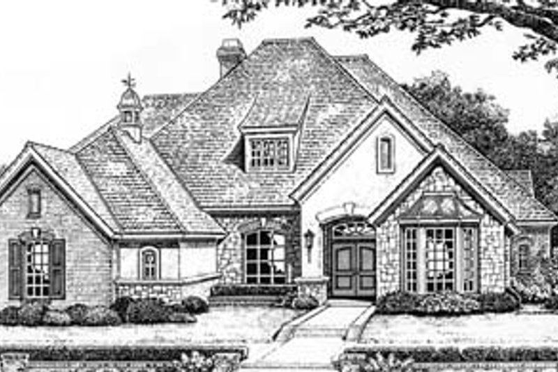 European Exterior - Front Elevation Plan #310-543