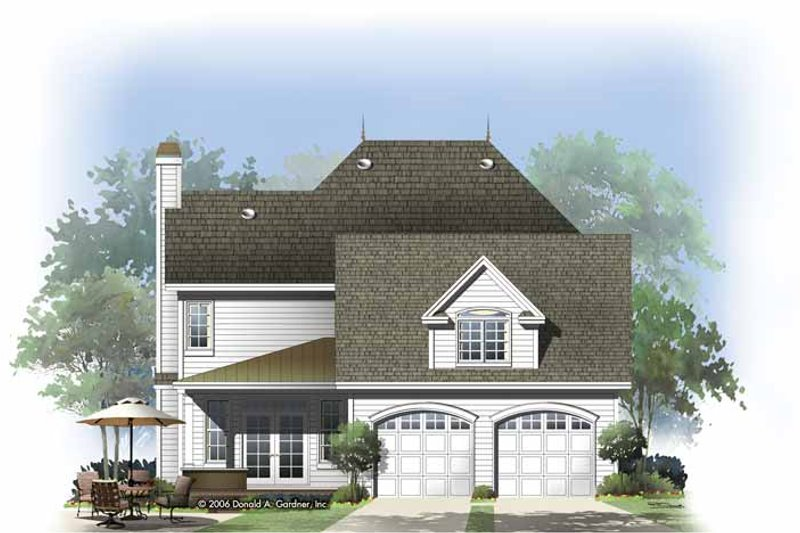Traditional Exterior - Rear Elevation Plan #929-812 - Houseplans.com