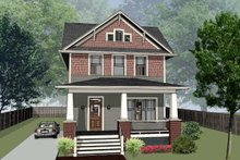 Dream House Plan - Craftsman Exterior - Front Elevation Plan #79-317