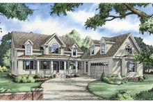 Country Exterior - Front Elevation Plan #929-808