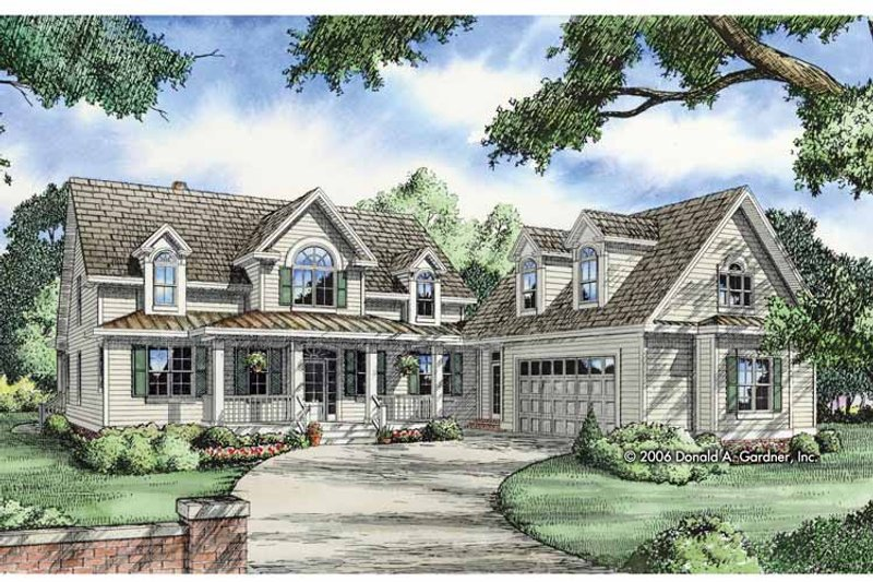 Country Exterior - Front Elevation Plan #929-808 - Houseplans.com