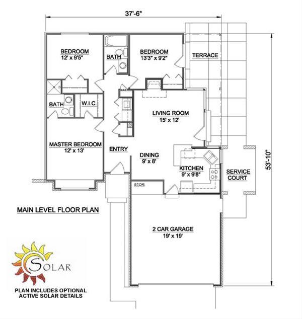 Ranch Floor Plan - Main Floor Plan Plan #116-150