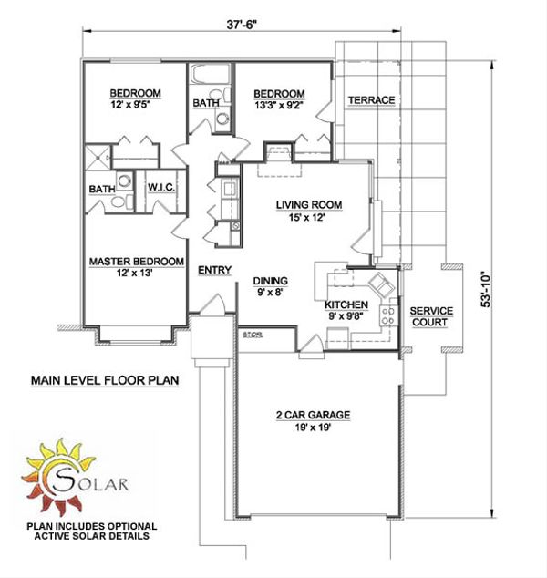 Ranch Floor Plan - Main Floor Plan #116-150