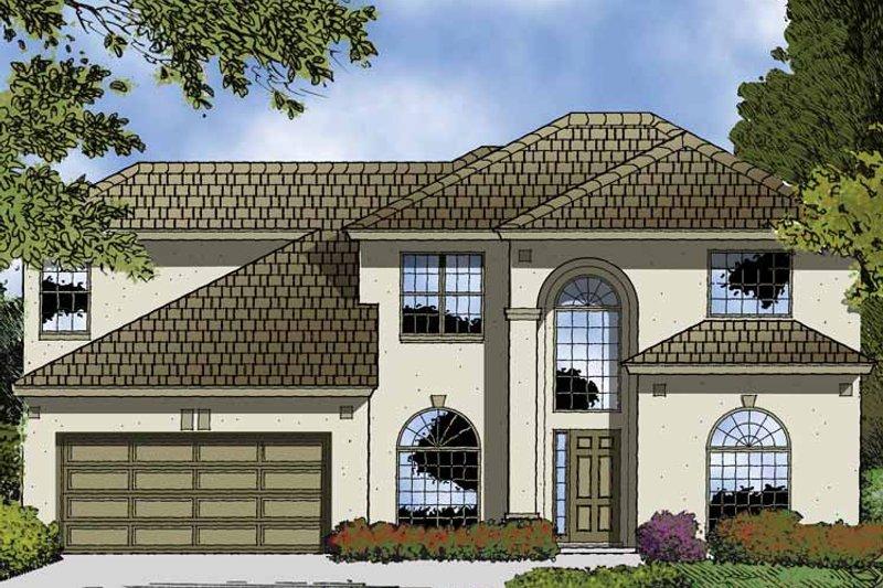 Contemporary Exterior - Front Elevation Plan #1015-49 - Houseplans.com