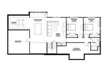 Ranch Floor Plan - Lower Floor Plan Plan #928-2