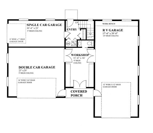 Country Floor Plan - Main Floor Plan Plan #118-139