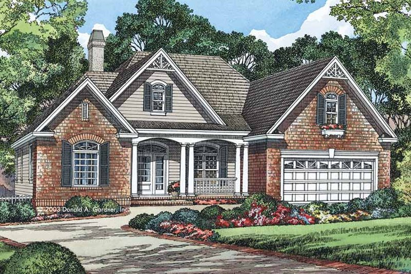 Country Exterior - Front Elevation Plan #929-542 - Houseplans.com